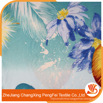 New arrive feather print fabric for home textile with high quality