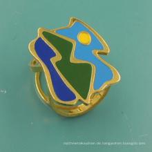 Harter Emaille-Schal-Klipp mit kundengebundenem Logo