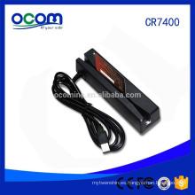 Precio de fábrica 3 pistas USB MSR deslice la máquina del lector de tarjetas de la raya magnética para la lealtad del juego POS