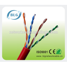 Red and white utp network cable cat5e Hub wire CE ROHS certified