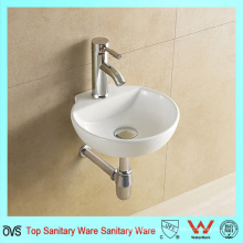 Новый дизайн Art Style Wall Hung Ceramic Wash Basin