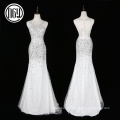 Atacado mais recente único cristal bling vestidos de noiva para a noiva