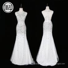 Vestidos de boda bling cristalinos únicos al por mayor más nuevos para la novia