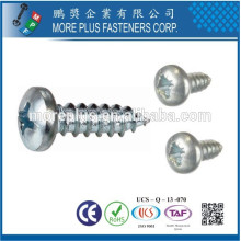 Made in Taiwan JIS M3.5X12mm Zinc Phillips Binding Head Self Tapping Screws