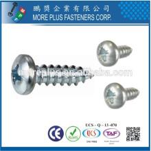 Fabricado em Taiwan JIS M3.5X12mm Zinc Phillips Binding Head Self Tapping Screws
