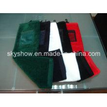 Volltonfarbe Golf Handtuch mit Netztasche (SST0317)
