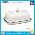 Promotional White Ceramic Kitchen Butter Dish