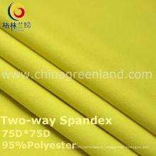 Tissu de teinture de Spandex du polyester 190t pour le vêtement de textile (GLLML239)