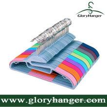 Top-Qualität rutschfeste Kunststoff Kleiderbügel mit Matel Haken
