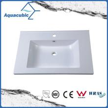 Cuarto de baño rectangular del cuarto de baño de mármol artificial Acb7502