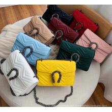 Women′ S 2021 New Fashion Tote Shoulder Bag Luxury Handbags Women Crossbody Bag with Chain