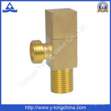 Válvula de ángulo cuadrado de latón de chorro de arena (YD-5019)