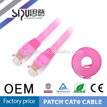 Precio de fábrica de SIPU cobre de alta velocidad cable plano de conexión del cordón del gato 6 de Ethernet para la computadora