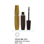 Round Design Mascara Tube with Silver Ring