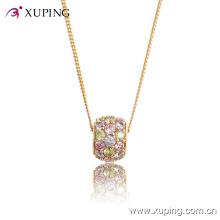 32413-лучшие продажи хрустальный шар CZ Диаманта 18k позолоченный Кулон ожерелье ювелирные изделия
