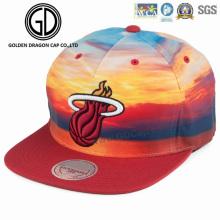 2017 sublimación de alta calidad que imprime el nuevo casquillo colorido de Snapback de la era del estilo con el bordado