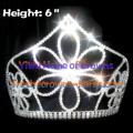 Big Flower 6inch Crystal Crowns