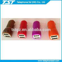 New products 2 port USB Car Charger for smart phone/iphone