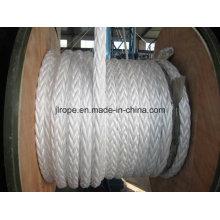Corde à 12 fils, corde tressée, corde d'amarrage