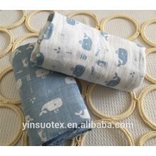 100% cotton muslin baby wash cloth
