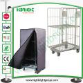 Rust Free Steel Logistic Cart, Industrial Folding Laundry Trolley Wheels