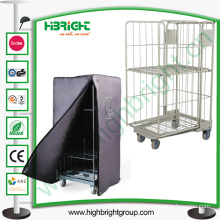 Rust Free Steel Logistic Cart, Industrial Folding Laundry Trolley Wheels