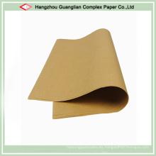 Hojas de papel para hornear sin blanquear a prueba de calor Revestimiento de la bandeja del horno