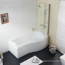 Baignoire à douche acrylique P avec porte vitrée CE