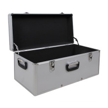 Storage Case Carrying Case M in Aluminum-Look, Silver