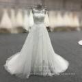 Élégant a-ligne robe de mariée blanche 2017 alibaba chine robe de mariée