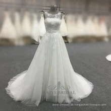 Elegantes a-line weißes Brautkleid 2017 alibaba China Brautkleid