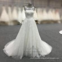 Elegant a-line white wedding dress 2017 alibaba china bridal gown