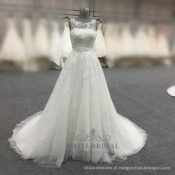 Elegante a linha de vestido de noiva branco 2017 alibaba china vestido de noiva
