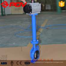 Wafer pneumatic butterfly valve with long stem