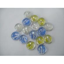 Huit pétales de marbre en verre plat