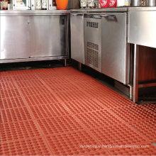 Top Quality Commercial Restaurant Locker Room Laundry Pool Shower Anti Slip Drainge Holes Rubber Mat