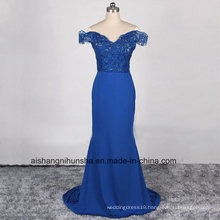 Beach Bridesmaid Stain Lace Mermaid Floor-Length Wedding Dress