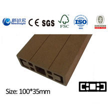 PE WPC Plank für Garten Pergola Strahl mit SGS CE Fsc ISO Composite Plank Kunststoff Holz Dekorative Board für Bank Dutsbin Zaun Decking Lhma051