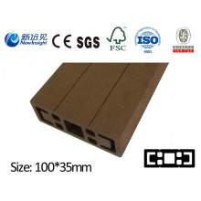 PE WPC Plank for Garden Pergola Beam with SGS CE Fsc ISO Composite Plank Plastic Lumber Decorative Board for Bench Dutsbin Fence Decking Lhma051