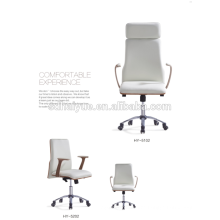 Beautiful office chair with luxury leahter aluminium legs good price