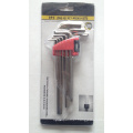 Hex Key Wrench with Blister Card 9PCS CRV 40cr