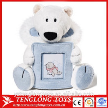 plush animal head funny picture photo frame