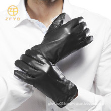 Men's gentle genuine winter dress leather gloves