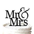 Romantische Mr & Mrs Silhouette Hochzeitstorte Topper