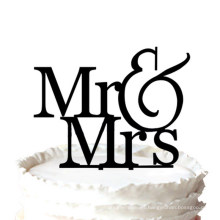 Romántico Mr & Mrs Silhouette Wedding Cake Topper