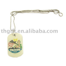 Custom two-piece dog tag necklace manufacturer jewelry