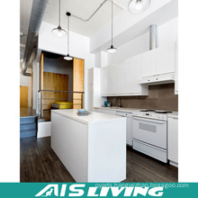 High Glossy White Lacquer Kitchen Cabinets with Island (AIS-K912)