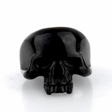 High Polish black Vintage Gothic ring