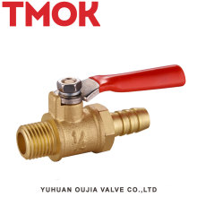 Good quality External thread long handle brass gas vavle Dn8