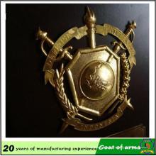 Emblema de ouro Emblema de metal emblema 3D